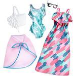 Barbie – Bañador Verde Y Vestido Verde Y Rosa – Pack 2 Modas