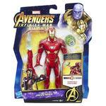 Los Vengadores – Iron Man – Figura Deluxe 15 Cm Con Gema