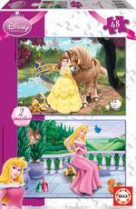 Puzzle Disney Princess Aurora Y Bella 2×48 Piezas
