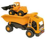 Camión Volquete Y Excavadora