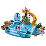 Piscina con tobog n 4858 playmobil for Playmobil piscina con tobogan