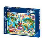 - Puzzle 1000 Piezas – Mapa De Disney Ravensburger