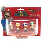 Pack 3 Minifiguras Súper Mario Toad Importación