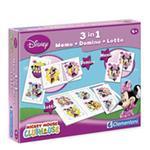 Kit 3 En 1memo, Domino, Lotto Minnie Mouse Clementoni