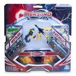 Monsuno – Pack De Batalla 2 Cores Serie 4 – Driftblade Vs Black Bullet