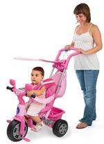 Triciclo Baby Plus Music Rosa Con Toldo Juguettos-2