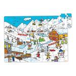 Puzzle Madera Esquí