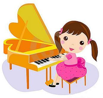Niña con talento para la música