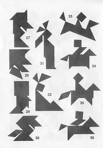 Figuras con Tangram con soluciones