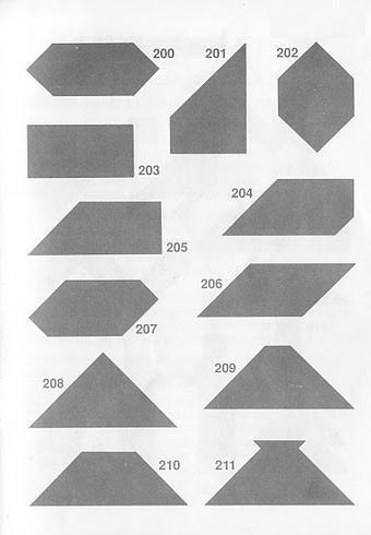 Figuras geometricas Tangram con soluciones