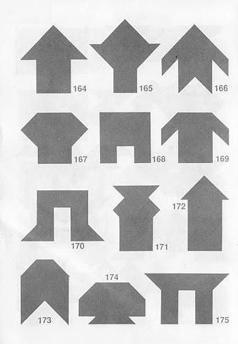Puzzles Tangram soluciones