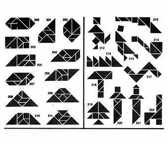 Soluciones Tangran 7 piezas