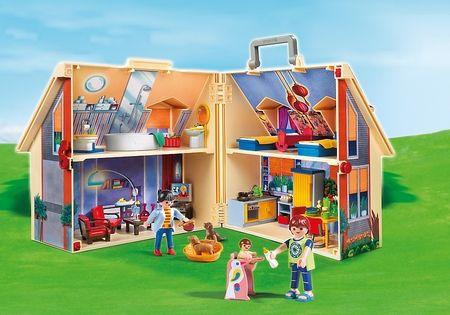 Casa de muñecas portátil y plegable en un maletin de Playmobil